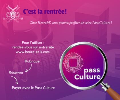 Nouveauté : le Pass Culture