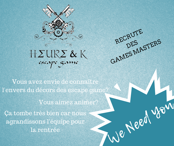 Heure&K Escape Game Recrute 0