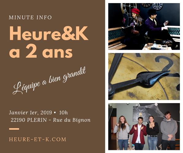 Heure&K Escape Game Plérin fête ses 2 ans 0