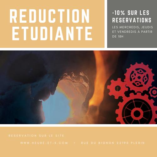 Réduction Etudiante - Heure&K Escape Game 0