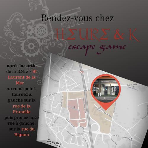 Heure&K Escape Game - Plérin 0